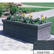 Wausau TF4176 Rectangular Outdoor Planter - Weatherstone Charcoal 72x30x30