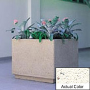 Wausau TF4190 Square Outdoor Planter - Weatherstone White 30x30x30