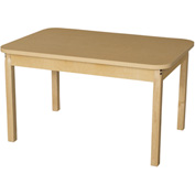 "Wood Designs 44"" x 30"" Rectangle High Pressure Laminate Activity Table with Hardwood Legs 18"""