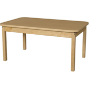 "Wood Designs 30"" x 48"" Rectangle High Pressure Laminate Activity Table with Hardwood Legs 18"""