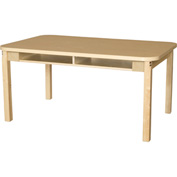 "Wood Designs 30"" x 48"" Rectangle High Pressure Laminate Activity Table with Hardwood Legs 24"""