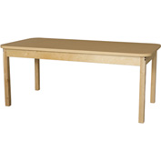 "Wood Designs 30"" x 60"" Rectangle High Pressure Laminate Activity Table with Hardwood Legs 18"""
