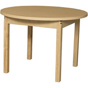 "Wood Designs 36"" Round High Pressure Laminate Activity Table with Hardwood Legs 24"""
