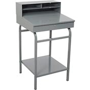 "24""W x 22""D Open Steel Receiving Desk - Gray"