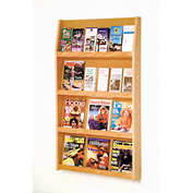 12 Magazine/24 Brochure Wall Display - Light Oak