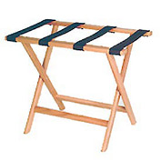 Luggage Rack w/ Straight Legs - Medium Oak/Brown