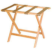 Luggage Rack w/ Straight Legs - Medium Oak/Tan