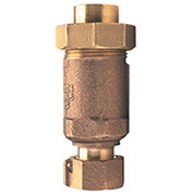 Zurn 34FX34UF-700XL 3/4 In. FNPT x Union FNPT Dual Check Valve - 175 PSI - Lead-Free Cast Bronze