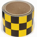 "INCOM® Checkerboard Hazard Tape - Yellow/Black, 3""W x 54'L, 1 Roll"