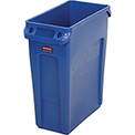 Rubbermaid® Slim Jim® 1971257 Recycling Container, 16 Gallon - Blue