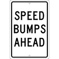 Aluminum Sign - Speed Bump Ahead - .063mm Thick