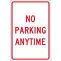 Aluminum Sign - No Parking Anytime - .080mm Thick