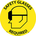 Floor Signs - Safety Glasses Required