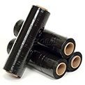 "Black Stretch Wrap 18"" x 1500' x 80 Gauge - Pkg Qty 4"