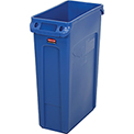 23 Gallon Rubbermaid Slim Jim Recycling Container - Blue