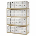 """Record Storage Open With Boxes 72""""W x 30""""D x 84""""H"""