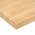 "48"" W x 30"" D x 1-3/4"" Thick, Maple Butcher Block Square Edge Workbench Top"