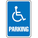 "Aluminum Sign - Parking Sign - Handicap Symbol, .063"" Thick, 649151"