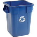 40 Gallon Square Rubbermaid Brute Recycling Container