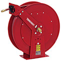 "Reelcraft 82100 OLP 1/2"" x 100' Spring Retractable Hose Reel Dual Pedestal All Steel With Hose"