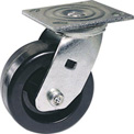 "Faultless Swivel Plate Caster 1461-8RB 8"" Polyolefin Wheel with Brake"