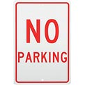 Aluminum Sign - No Parking - .063mm Thick