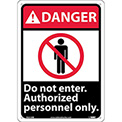 "Graphic Signs - Danger Do Not Enter - Plastic 10""W X 14""H"
