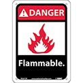 "Graphic Signs - Danger Flammable - Plastic 7""W X 10""H"