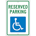 Aluminum Sign - Reserved Parking Handicapped Logo - .063mm Thick