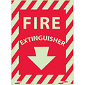 Fire Extinguisher Sign - Glow-In-The-Dark - Vinyl