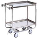 Jamco Stainless Steel Shelf Truck XM124 24x18 2 Shelves