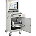 Mobile Security LCD Computer Cabinet Enclosure - Gray (Unassembled)