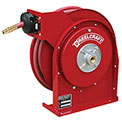 "Reelcraft 4435 OLP 1/4"" x 35' 300PSI All Steel Compact Retractable Hose Reel For Air/Water"