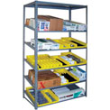 "Sloped Flow Shelving Add-On 48""W x 18""D x 84""H Gray"