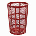 Outdoor Metal Trash Container Red
