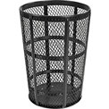 Global Industrial™ Outdoor Metal Trash Container Black, 48 Gallon
