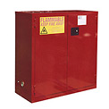 "Global&#8482 Paint & Ink Storage Cabinet - Self Close Double Door 48 Gallon - 43""W x 18""D x 44""H"