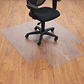 "Office Chair Mat for Hard Floor - 46""W x 60""L with 25"" x 12"" Lip - Straight Edge"