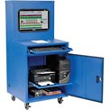 Deluxe LCD Industrial Computer Cabinet, Blue, Assembled