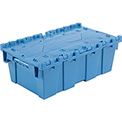 Plastic Shipping Container - Hinged Lid Storage DC2012-07 19-5/8 x 11-7/8 x 7 Blue