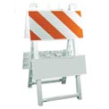 """Econocade Folding Traffic Barricade 42-3/5""""H With 4 Panels 2 Sheetings"""