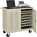 Mobile Storage & Charging Cart for 24 Laptop & Chromebook™ and iPad® Tablets, Putty