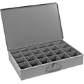 Durham Steel Scoop Compartment Box 102-95 - 24 Compartments - Pkg Qty 4