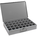 Durham Steel Scoop Compartment Box 107-95 - 32 Compartments - Pkg Qty 4