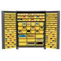 "Jamco Bin Cabinet GS260KA - 14 ga. Welded with 227 Bins Deep Door, 60""W x 24""D x 78""H"