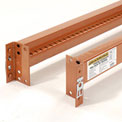 "Pallet Rack Beam 48""Lx3-5/16""H Notched 6590 Lb Cap/Pr (2 pcs)"