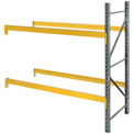 """Husky Rack & Wire L244214455120A Double Slotted Pallet Rack Add-On 120""""W x 42""""D x 144""""H"""