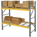 """Husky Rack & Wire L244219260144S Double Slotted Pallet Rack Starter 144""""W x 42""""D x 192""""H"""