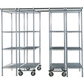 "SPAC TRAC 6 Unit Storage Shelving Chrome 36""W x 18""D x 74""H - 12 ft."