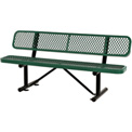 "72""  Expanded Metal Mesh Bench With Back Rest Green"